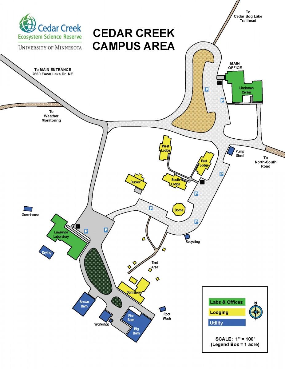 U Of Mn St Paul Campus Map.Cedar Creek Ecosystem Science Reserve