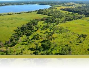 Aerial of Savanna and Fish Lake