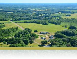 Aerial view of Cedar Creek campus.