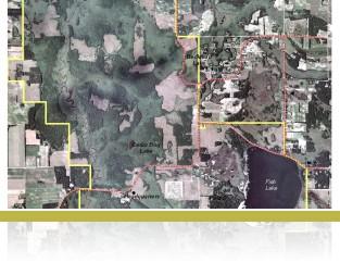 Outline map of Cedar Creek Ecosystem Science Reserve