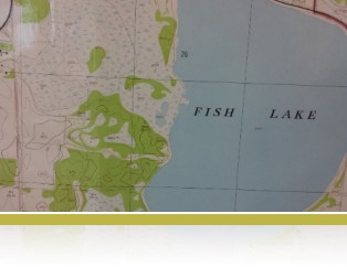 1960's aerial survey map of Fish Lake
