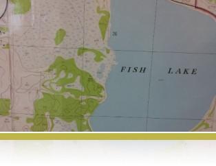 1960's aerial survey map of Fish Lake